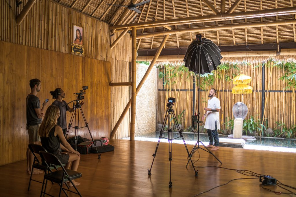 Videoshooting Bali for an Online Course